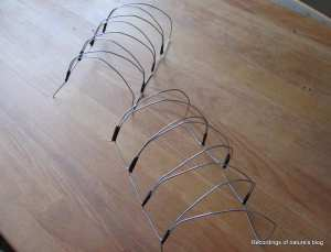 Wire grill for wind shelter