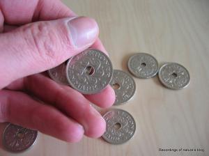 2-kroner and 1-kroner