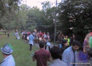 Encounter with a small samba group copenhagen carnival 2011