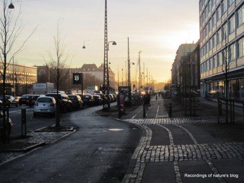 View of Østerbrogade December 2013