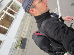 Wearing the field recording bag